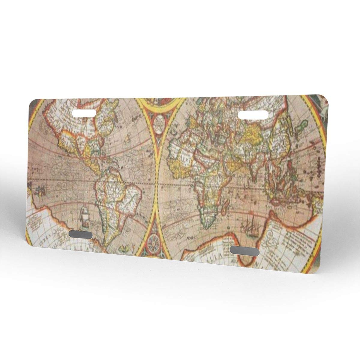 Amazon.com: Pingshoes Antique World Map Novelty License ... on state license plates, ohio license plates, preamble license plates, florida license plates, government license plates, germany license plates, pennsylvania license plates, front license plates,