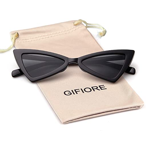 c516c4bc7f Image Unavailable. Image not available for. Color  Vintage Sunglasses Retro  Triangle Sunglasses for women men