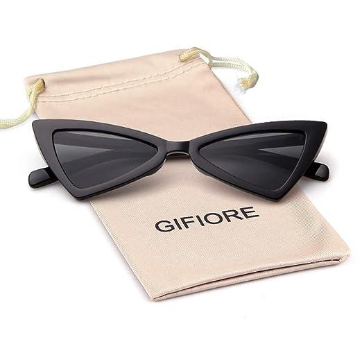 4a05a47b89 Amazon.com  Vintage Sunglasses Retro Triangle Sunglasses for women ...