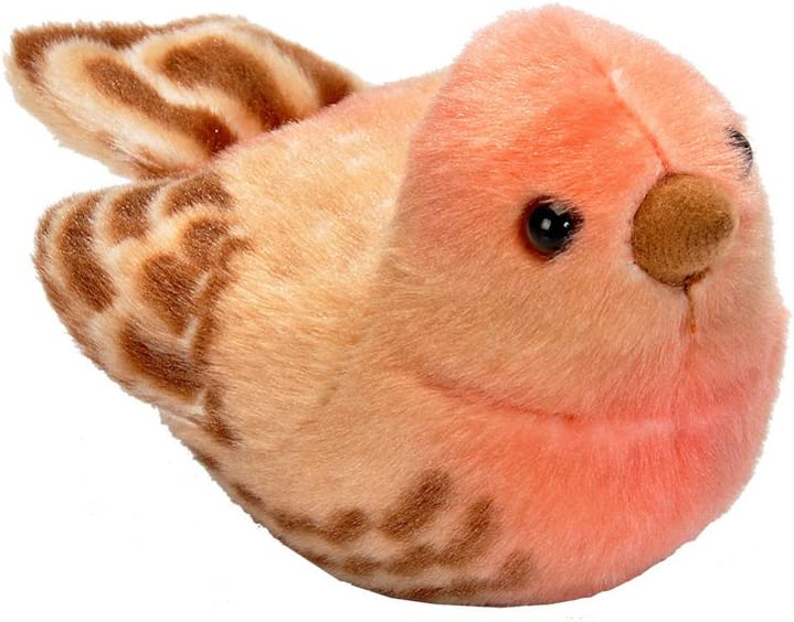 Wild Republic Audubon Birds House Finch Plush with Authentic Bird Sound, Stuffed Animal, Bird Toys for Kids & Birders