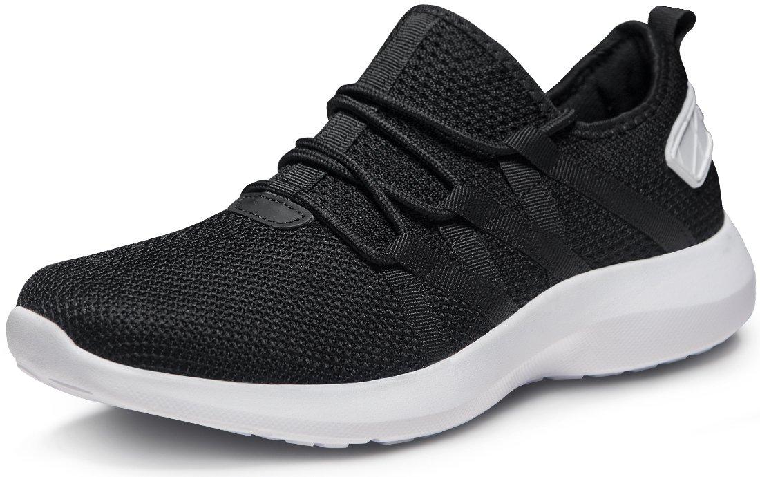 Tesla Men's Knit Pattern Sports Running Shoes L570/X573/X574/E734/X735 (True to Size) B07DD7MYRT Men 12 D(M)|B X735-BLK