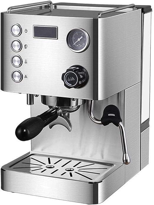 Cafetera Compacta, Cafetera De Bomba Comercial Semiautomática Profesional, Extracción De Presión De 15 Bar: Amazon.es: Hogar