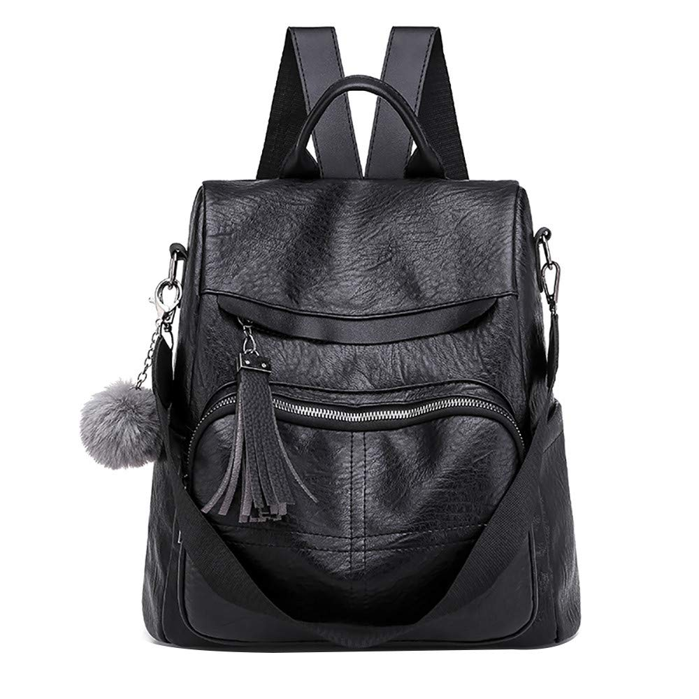 Women Backpack Soft Leather Anti-theft Large Capacity Leisure Travel Bag
