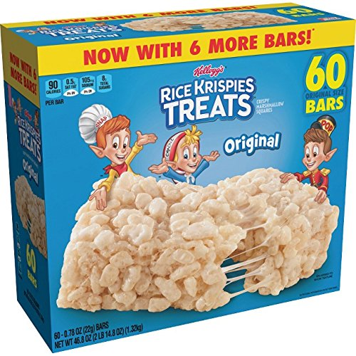 Kellogg's Original Rice Krispies Treats - Original - 60 / Carton (Rice Crispy Treat)