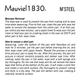Mauviel Made In France M'Steel Black Steel Splayed