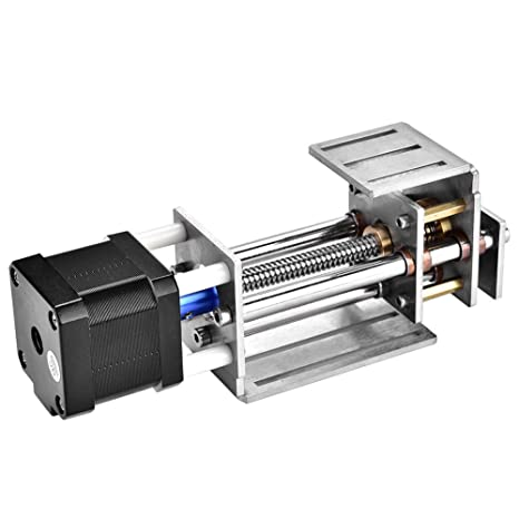 Deslizador de riel lineal CNC, ejes Z de acero inoxidable 60MM Riel de guía de fresado ajustable DIY 2 diapositivas de movimiento de alambre de 4 fases para máquina de grabado CNC