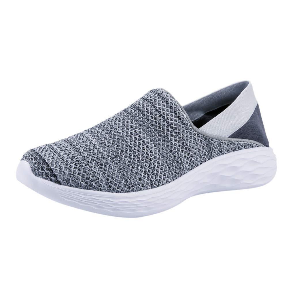 Mysky Fashion Men Summer Leisure Breathable Patchwork Outdoor Mesh Shoes Men Simple Soft Flat Wild Sports Shoes