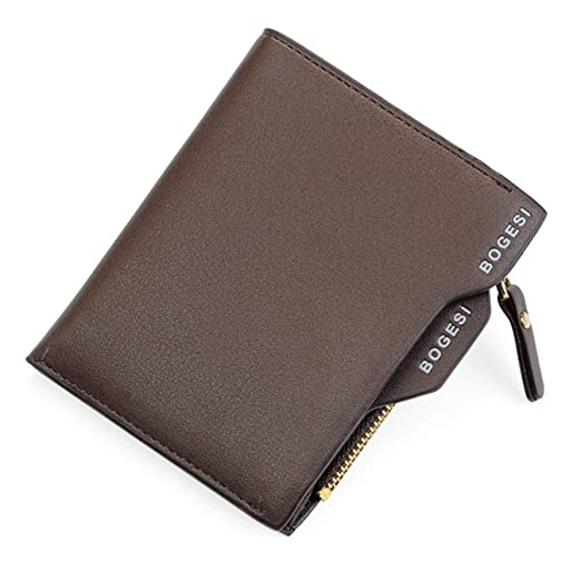 Portfolio Short Men Wallet Coin Purse Male Leather Money Bag ...