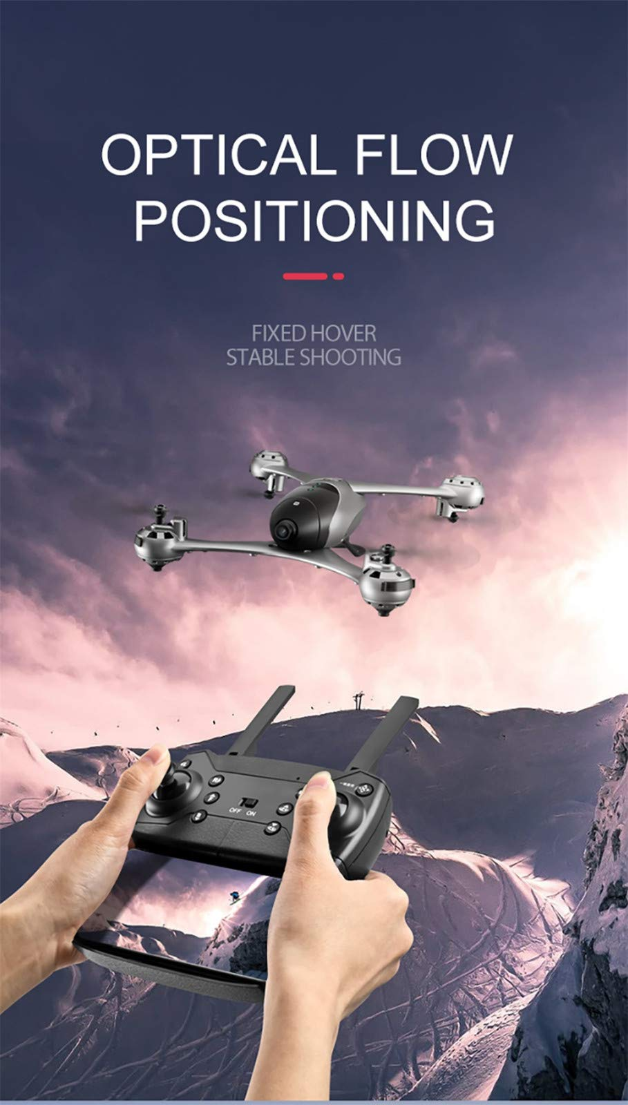 LikeroThe First 4K UAV on The Market-- M6-4K 2.4G Drone, Altitude Hold 4K WiFi Camera FPV Optical Flow RC Quadcopter by Likero (Image #9)