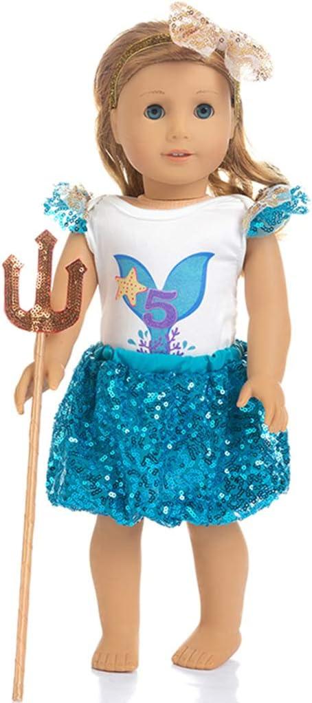 vestito Vestiti bambole 43 cm nuovo Blu chiaro