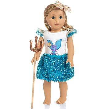 Amazon.es: Amycute muñeco Bebe Juguete Lentejuelas Vestido Tutu ...