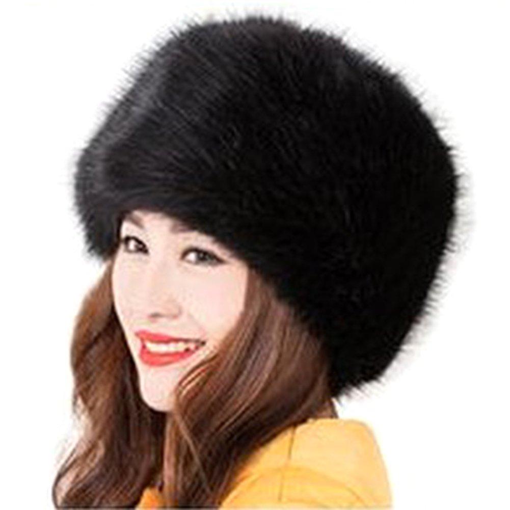 LASHER Women's Cossack Russian Style Faux Fur Hat Winter Warm Cap