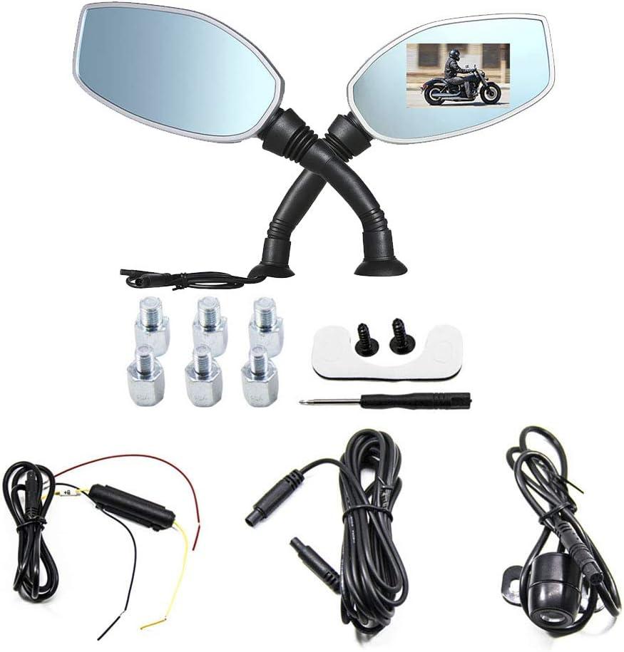 Vosarea Moto cámara 2,7Pulgadas Full HD1080P Doble cámara DVR Grabador de vídeo de Apoyo de detección de Movimiento Moto