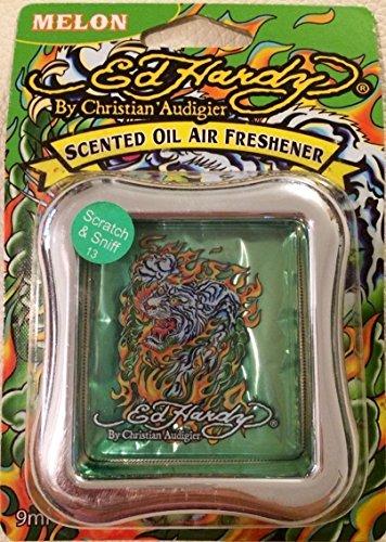 4 ED HARDY WHITE-TIGER By Christian Audigier ' SCENTED OIL AIR FRESHENER (Melon) (Audigier Tiger Christian)