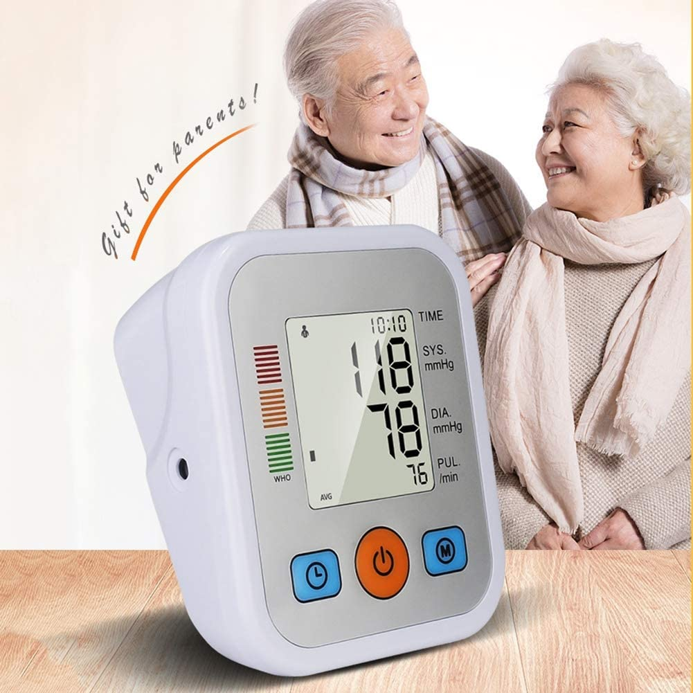 SUN RDPP Tensiómetro de Brazo Promedio de Memoria portátil tonómetro de Brazo Superior Digital para monitoreo de Salud
