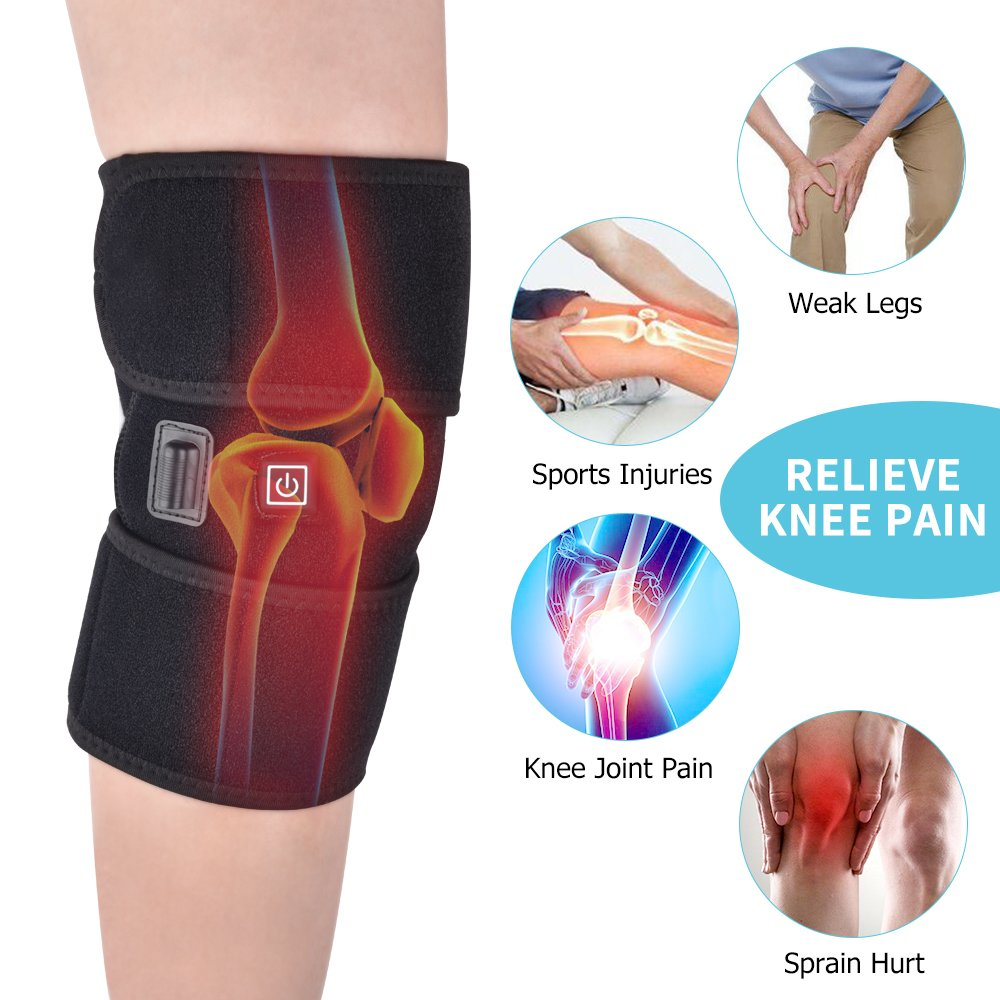 MS.DEAR Knee Heating Wrap Knee Support for Arthritis Heated Knee Brace Wrap Thermal Therapy Knee Brace Wrap for Pain Relief 1PC for Men Women (Ice Pack NOT Included) by MS.DEAR