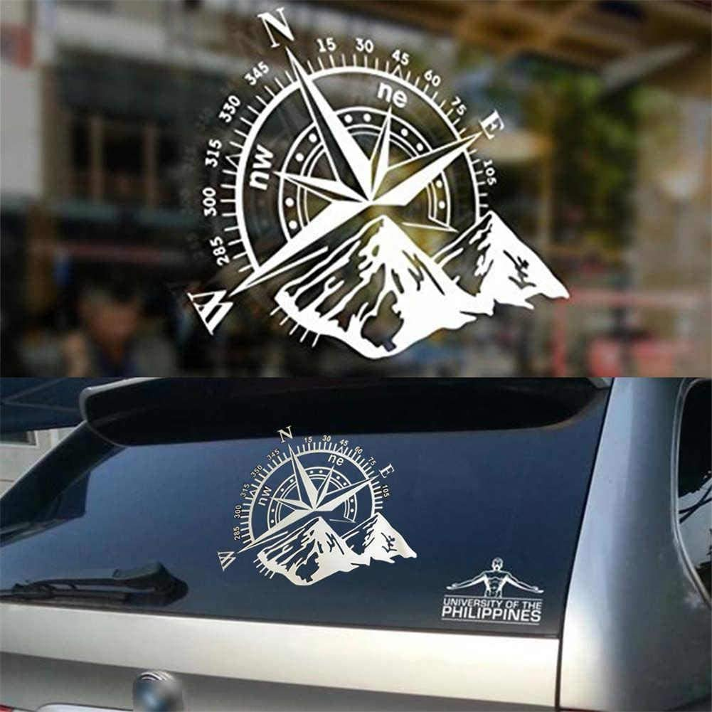 1 adesivo 3D per auto bussola rosa Navigate Mountain 4x4 fuoristrada vinile adesivo decalcomania