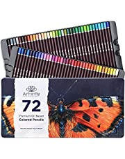 72 Professional Oil Based Colored Pencils for Artist in Metal Case - Great for Blending and Layering