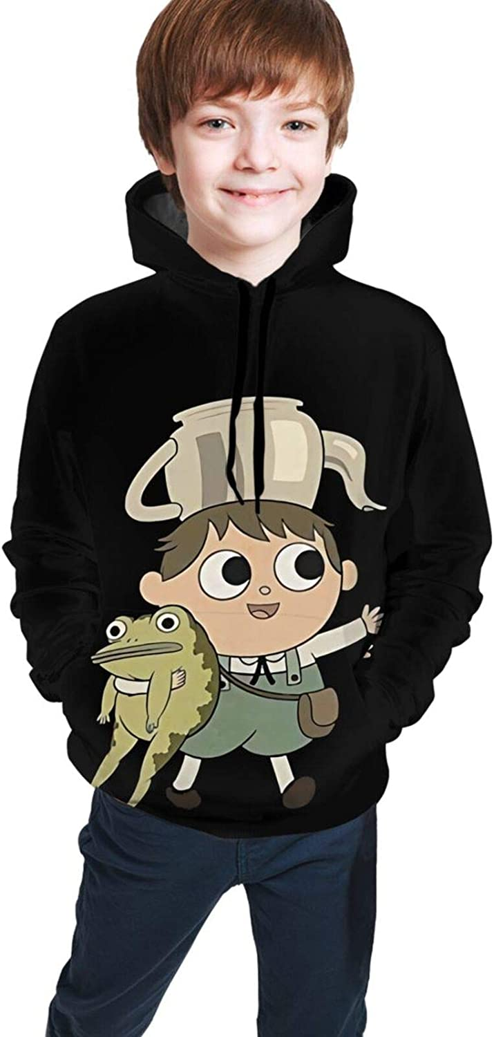 Over The Garden Wall Youth Boys Girls 3D Print Pullover Hoodies Hooded Seatshirts Sweaters