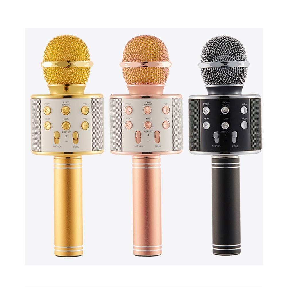 Wireless Karaoke Microphone Machine, 4 In 1 Handheld Portable Bluetooth Home KTV Player, Superior Audio Quality For Singing & Recording, Compatible With Android & IOS Wireless Bluetooth Karaoke Microp by Xiuzhifuxie (Image #4)
