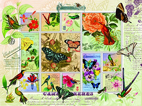 Butterfly and Hummingbird Flight 1000 Piece Jigsaw Puzzle by SunsOut