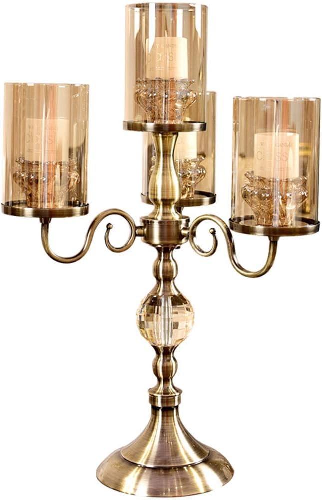 クリスタルガラスキャンドルホルダー、アメリカのキャンドルホルダー、メタルキャンドルホルダー、ロマンチックなキャンドルカップキャンドルデコレーション 美しい
