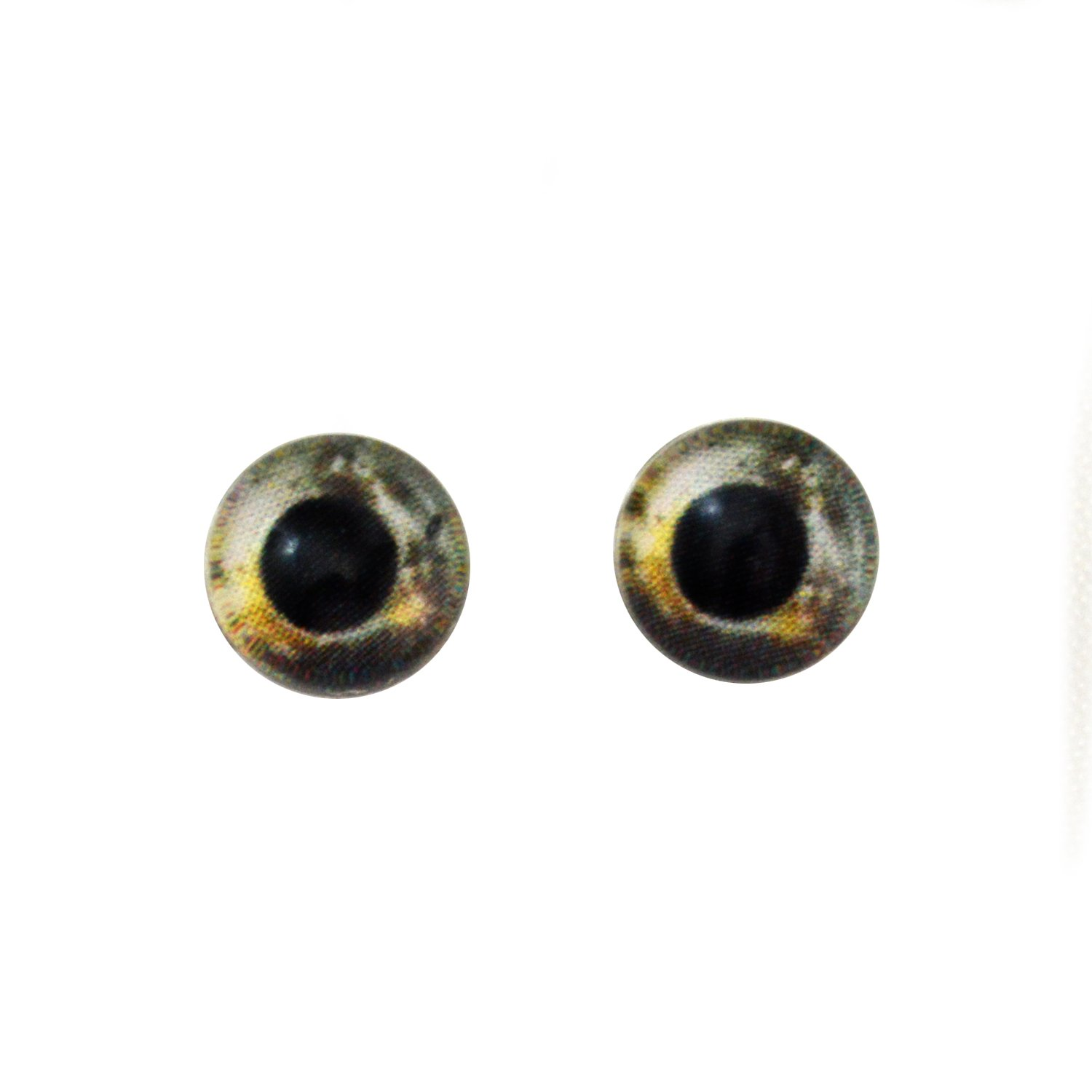14mm Koi Fish Glass Eyes Realistic Animal Art Dolls Taxidermy Sculptures or Jewelry Making Crafts Matching Set of 2