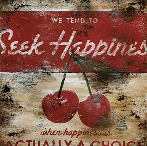 36W x 36H Seek Happiness by Rodney White - Stretched Canvas w/ BRUSHSTROKES