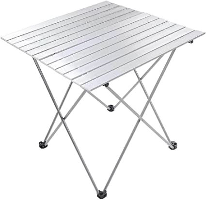 Aluminum Roll Up Table Folding Camping Outdoor Indoor Picnic Bag Heavy Duty