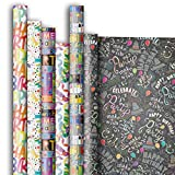 Jillson Roberts 6 Roll-Count All-Occasion Gift Wrap Available in 14 Different Assortments, It's All About Birthdays