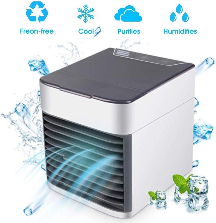 Ventilador de refrigeración de aire portátil, depurador de filtro humidificador para aire acondicionado, ventilador regulable LED, ventilador de refrigeración de aire ...
