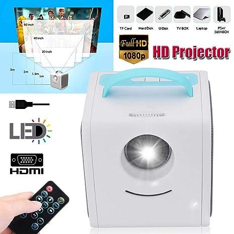 1080P Mini Full HD Proyector De Cine En Casa WiFi Cine Proyector ...