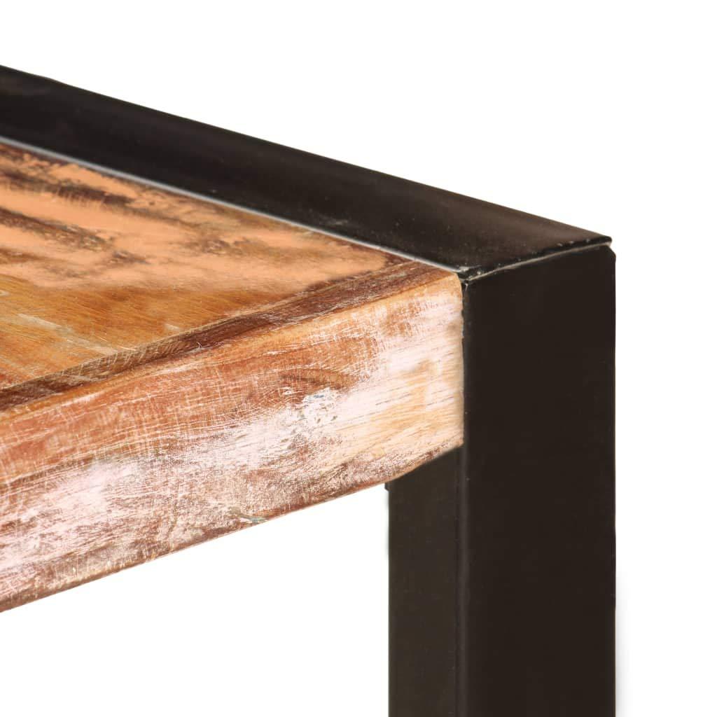 vidaXL Tavolo da Pranzo Stile Industriale Raffinato Telaio Robusto Rustico Venature Uniche 140x70x75cm in Legno Massello di Recupero Tavola Mensa