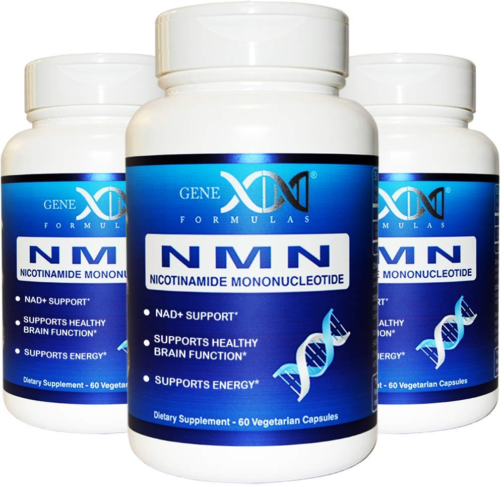 NMN Supplement 250mg Serving 3Pack Nicotinamide Mononucleotide to Boost NAD+ Levels for DNA Repair (2X 125mg caps 60 ct per Bottle) by Genex Formulas