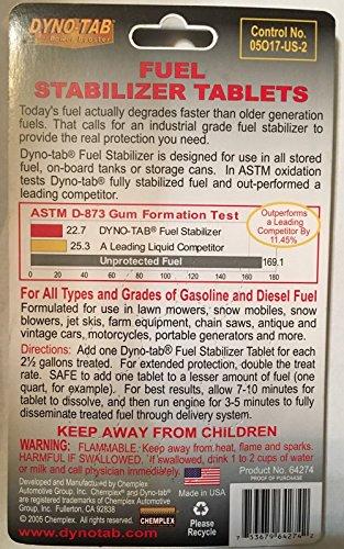 Dyno-tab Fuel Stabilizer 8-tab Card Dynotab