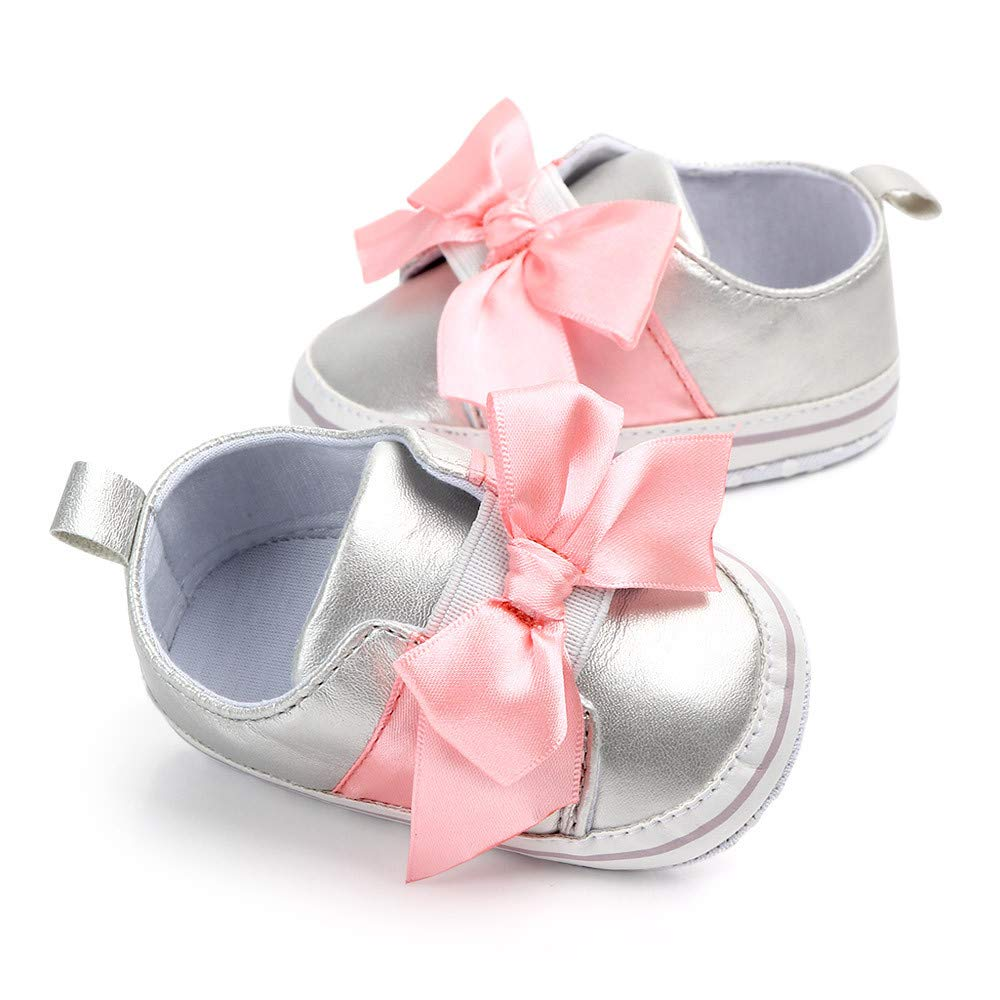 Cute Baby Girls Newborn Infant Baby Bow Casual First Walker Toddler Shoes