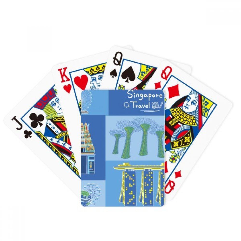 beatChong Singapore Travel Landmark Poker Playing Card Tabletop Board Game Gift