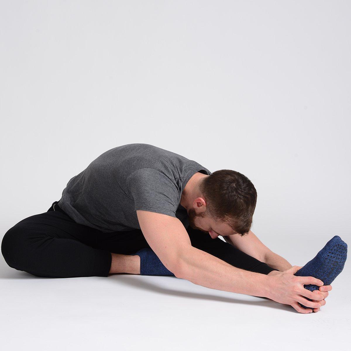 Non Slip Yoga Socks for Pilates Great Soles Tabbed Grip Socks for Men Barre Ballet and Everyday Wear