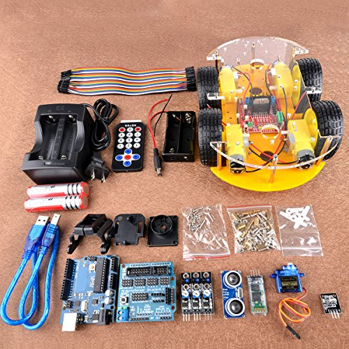Crenova robot car kit for arduino wheel bluetooth