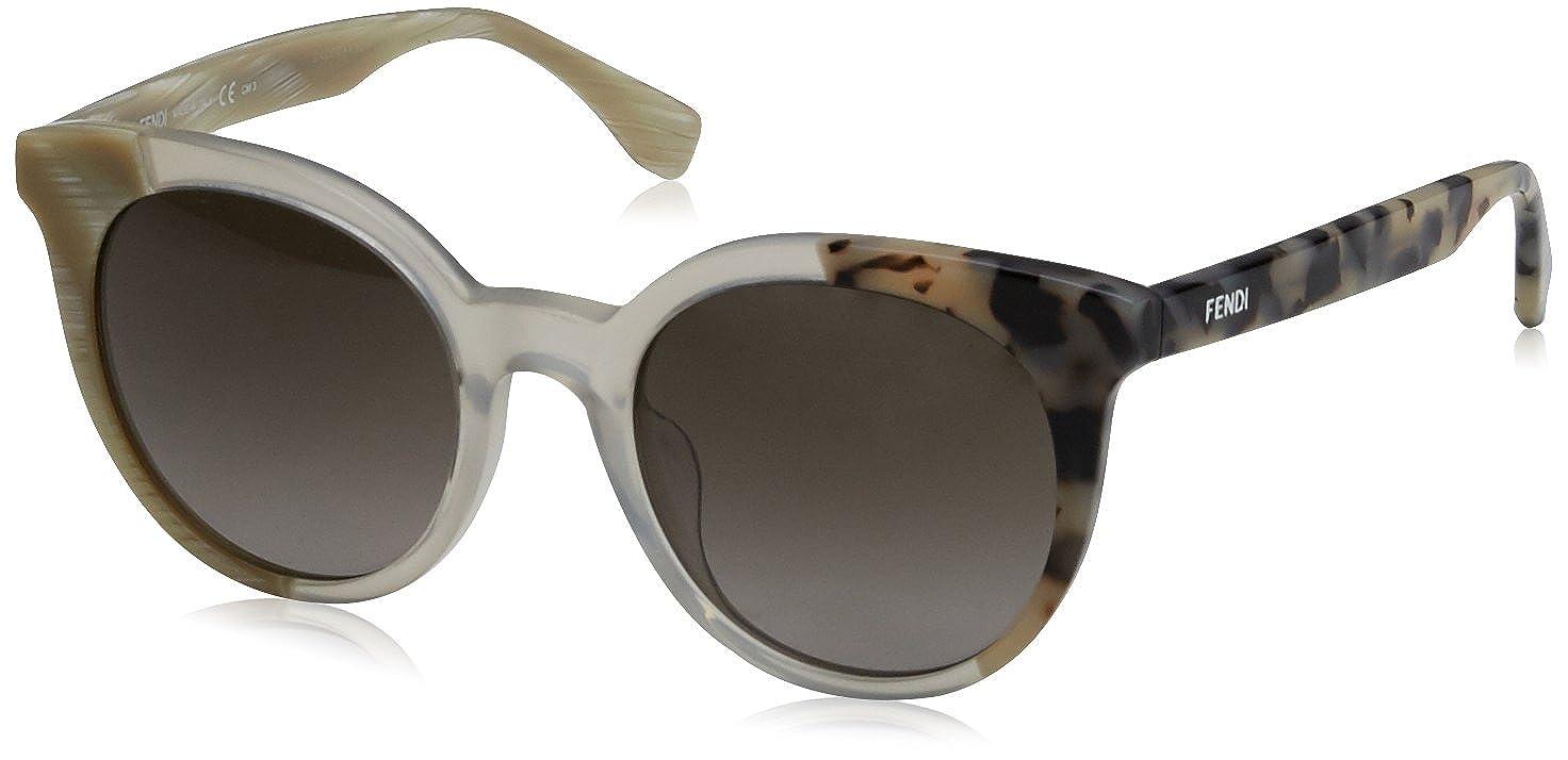 Fendi Damen Wayfarer Sonnenbrille FF 0064/S EC, Gr. 51 mm, MYD
