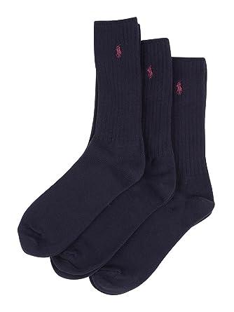 Calcetines De Polo Ralph Lauren Paquete De 3 Hombres Equipo Con ...