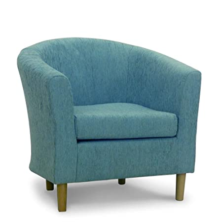 Amazing Fabric Tub Chair   Bucket Seat   Classic Tub Chairs Design   Teal Duck Egg