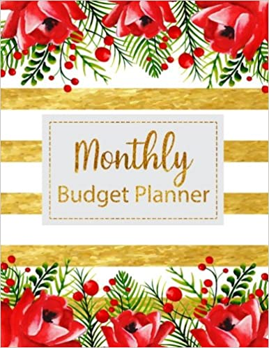 buy monthly budget planner floral vintage stripes weekly expense