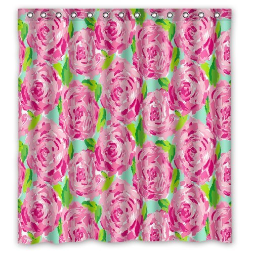 Fashion press Flawless Gorgeous Creative Lilly Pulitzer Shower Retro Curtain Shower 100% WaterProof Polyester Fabric 66