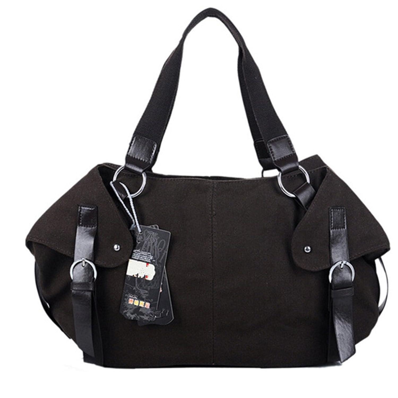 Hynbase Retro Fashion Portable Shoulder Women Bags Classic Canvas Handbag