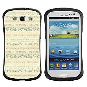 ArtSpace Premium Hybrid Back Case Cover Samsung Galaxy S3 III i9300 ( Chinese Typography )