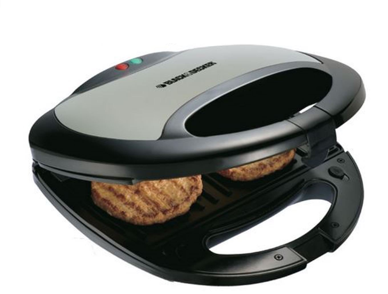 Black & Decker TS2000 2 Slice Sandwich Maker/Grill, 220V, Black [並行輸入品]   B01IC17HFO