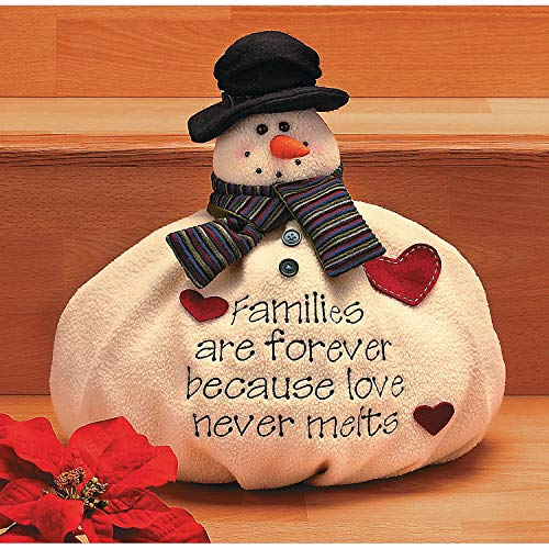 - Fun Express - Softy The Snowman for Christmas - Home Decor - Figurines - Soft Sculpture - Christmas - 1 Piece
