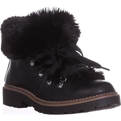 8923b3ffad1 Esprit Womens Cameron Faux Leather Ankle Booties Black 6 Medium (B