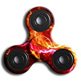 Hand Fidget Spinner,Omiky® Milky Galaxy Tri Fidget Spinner Aluminium Alloy Finger Groy Toy for SBDX ADD ADHD Anxiety Autism Suffers (# M)